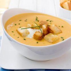 Pikantní syrová polévka