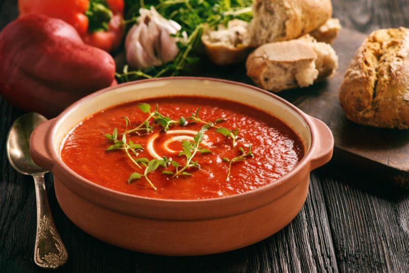 Pikantní rajčatová  polévka