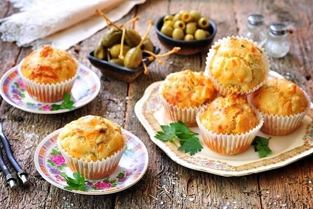 Slané  muffiny se sýrem