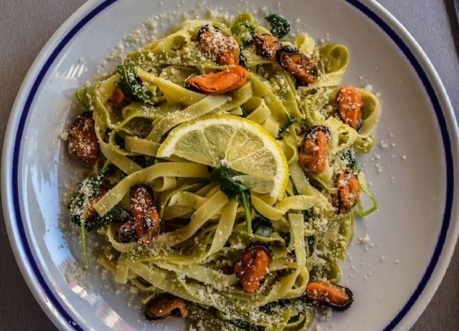 Recept na těstoviny s mořskými plody